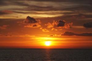 Sonnenuntergang bei einer Koh Chang Reise