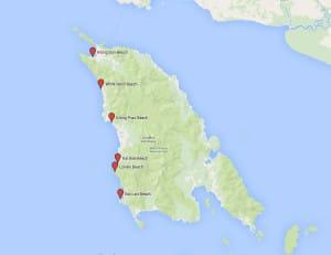 Karte der Strände - Klicken zum Vergrößern