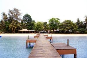 Der paradiesische Anlegesteg von Koh Mak